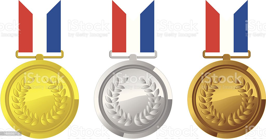 Gold Silver and Bronze royalty-free stock vector art
