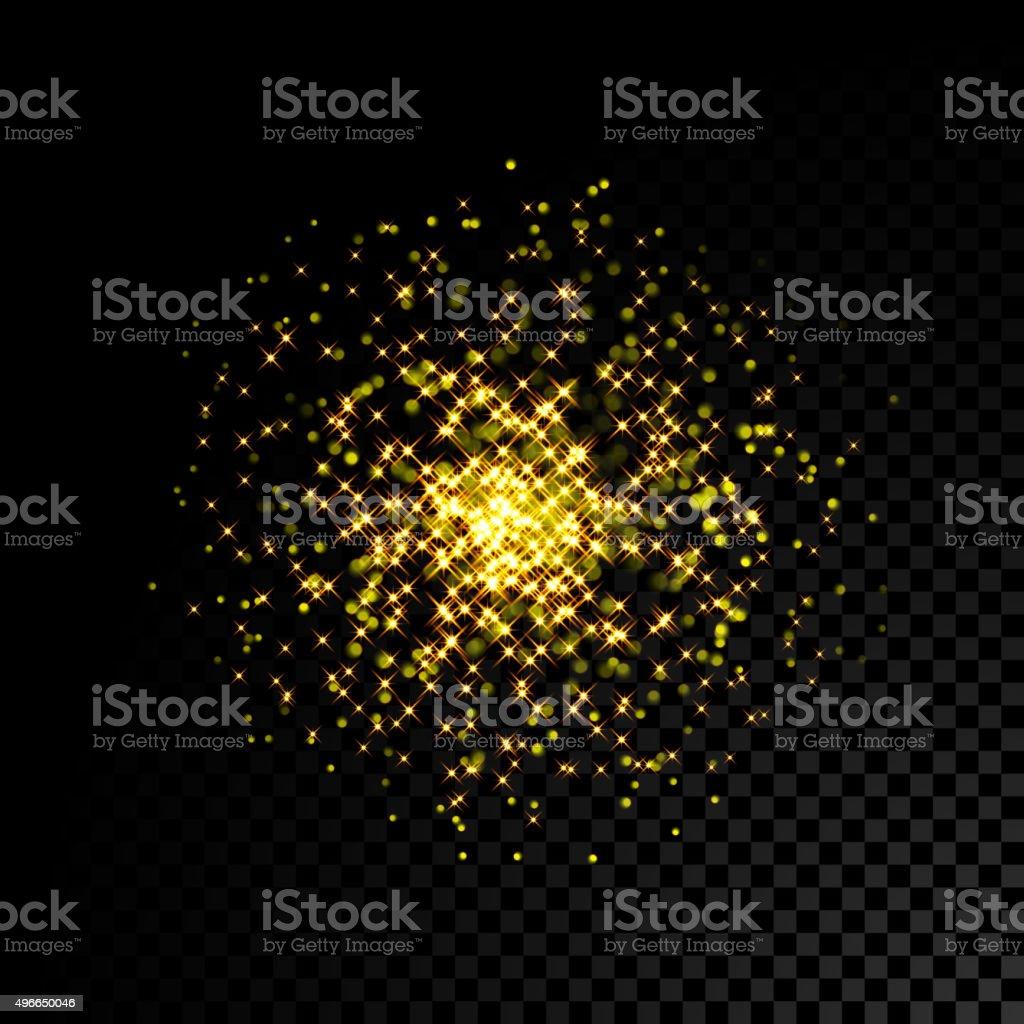 Gold sparkle glitter background vector art illustration