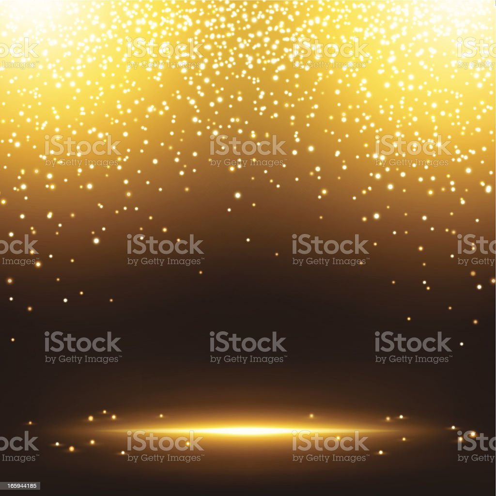 Gold sparkles royalty-free stock vector art