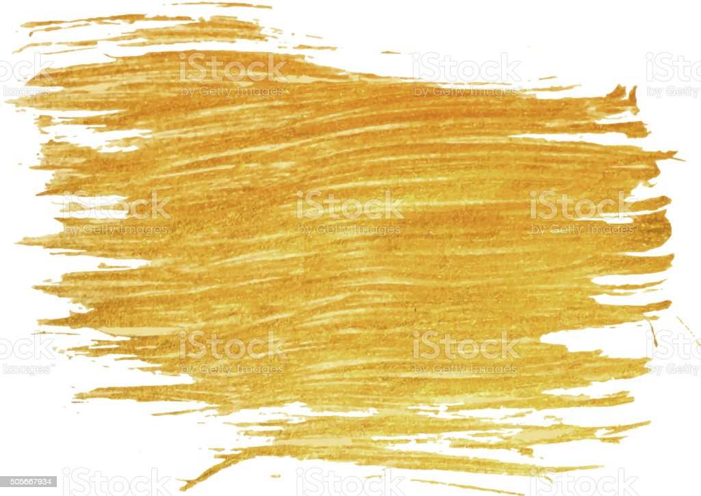 Gold stain isolated on white background. vector art illustration