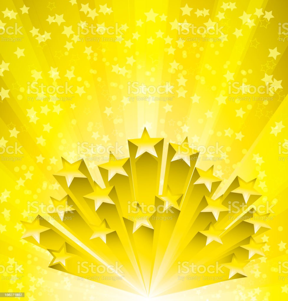 Gold star background royalty-free stock vector art