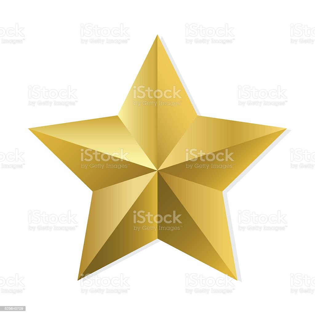 Gold star isolated vector object vector art illustration