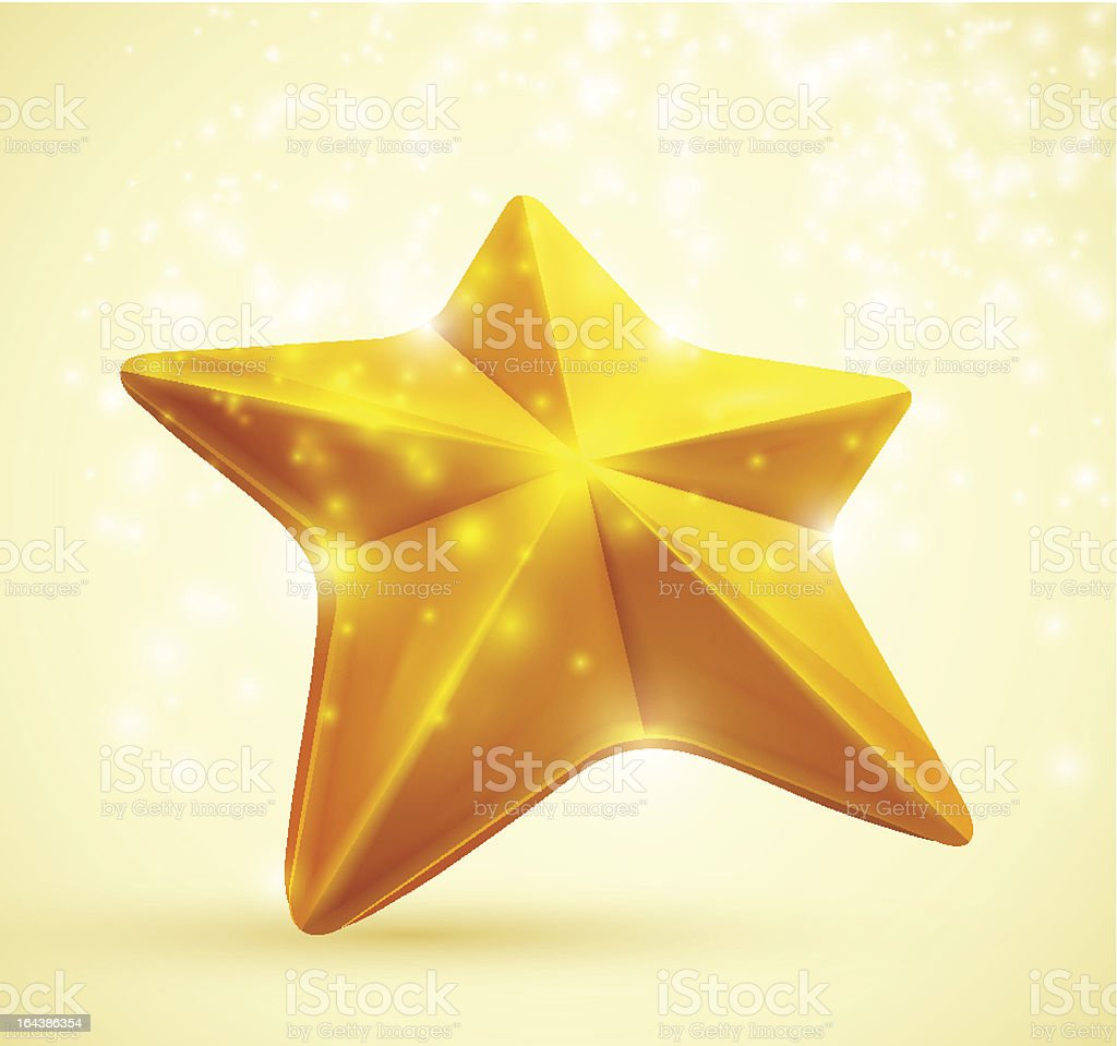 Gold star royalty-free stock vector art