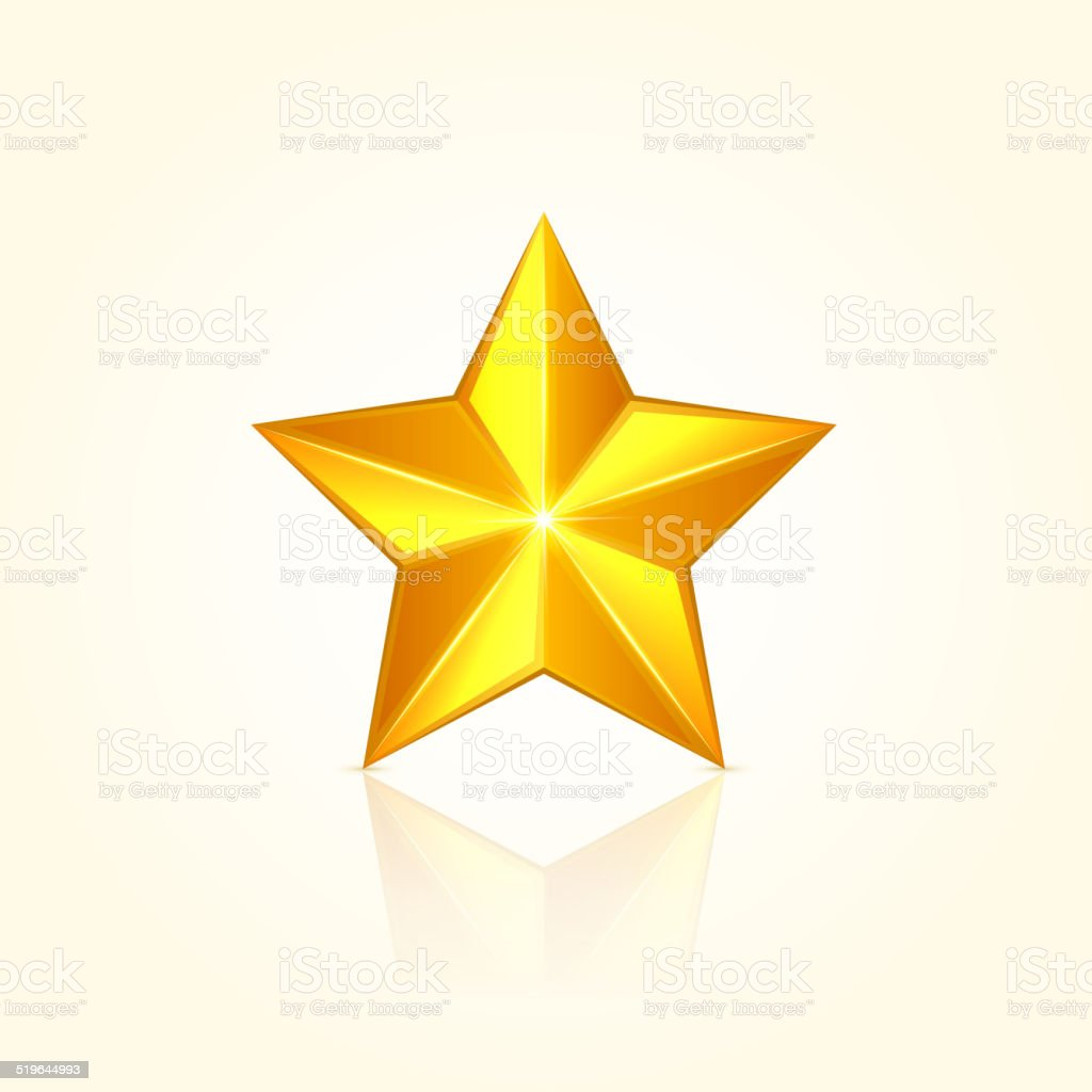 Gold star vector art illustration