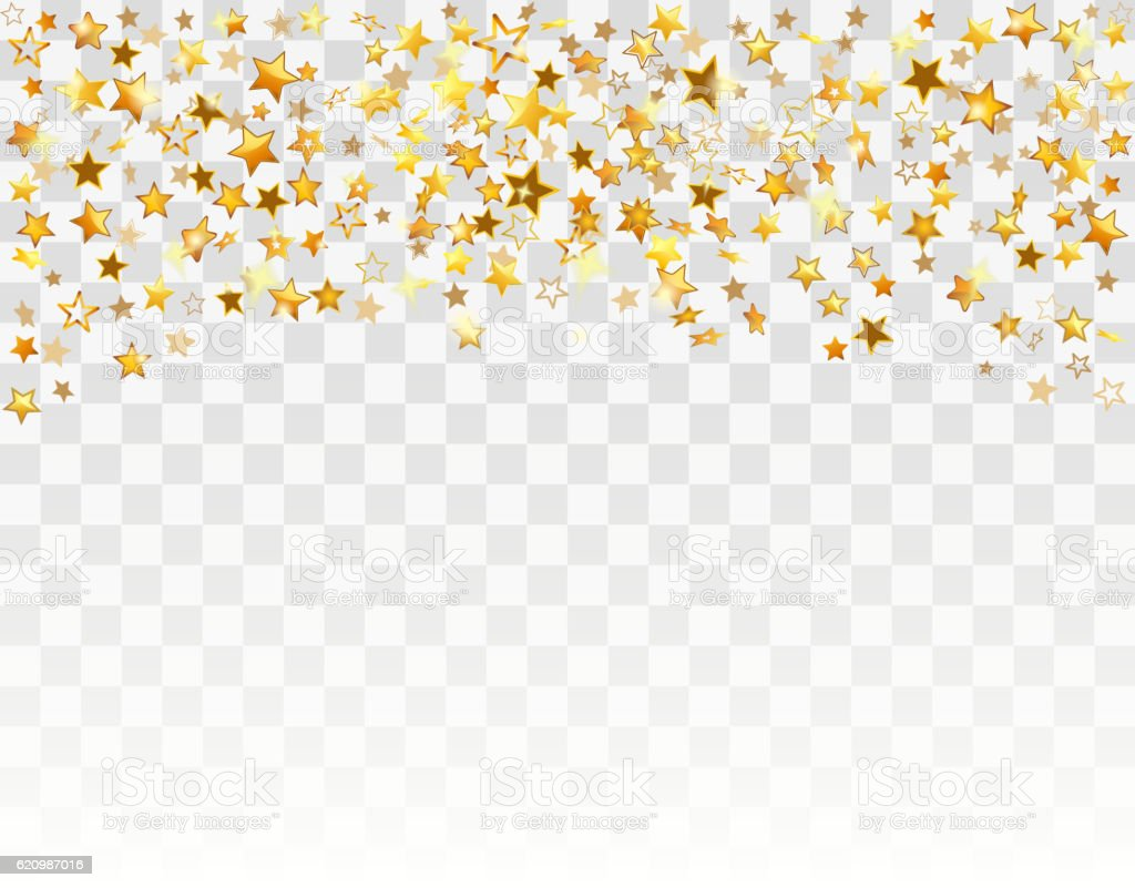 Gold stars Holiday background vector art illustration