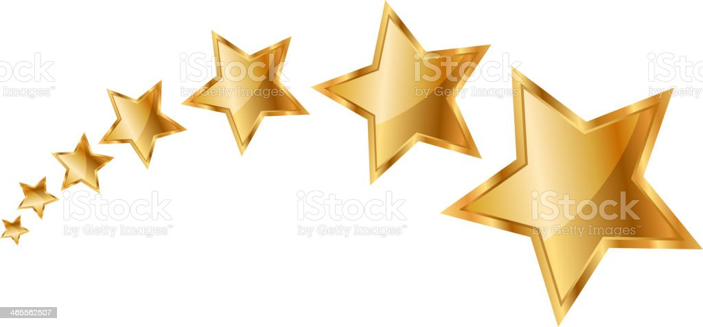 gold stars royalty-free stock vector art