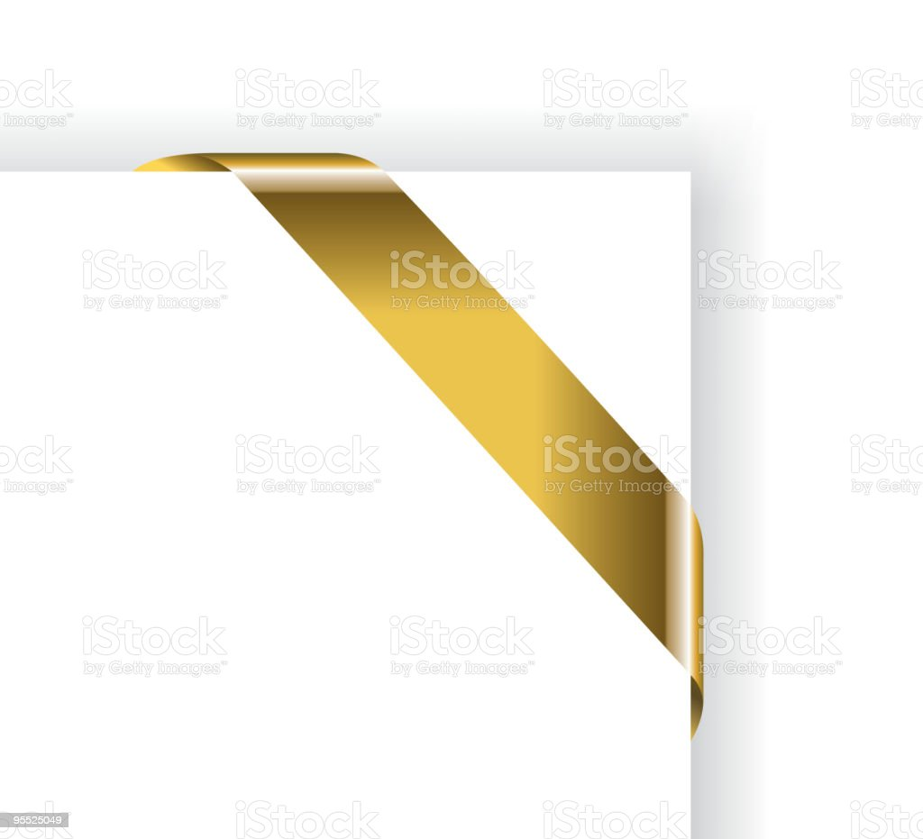 Gold Tag Decoration royalty-free stock vector art