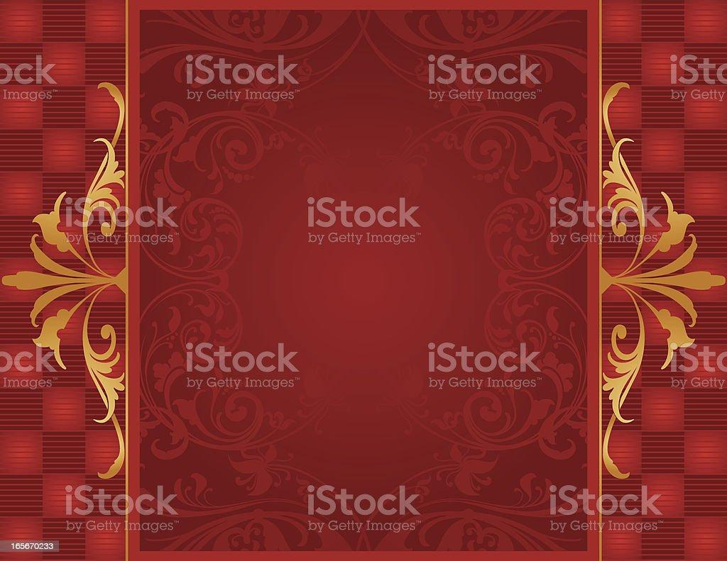 Gold Trimmed Frame vector art illustration