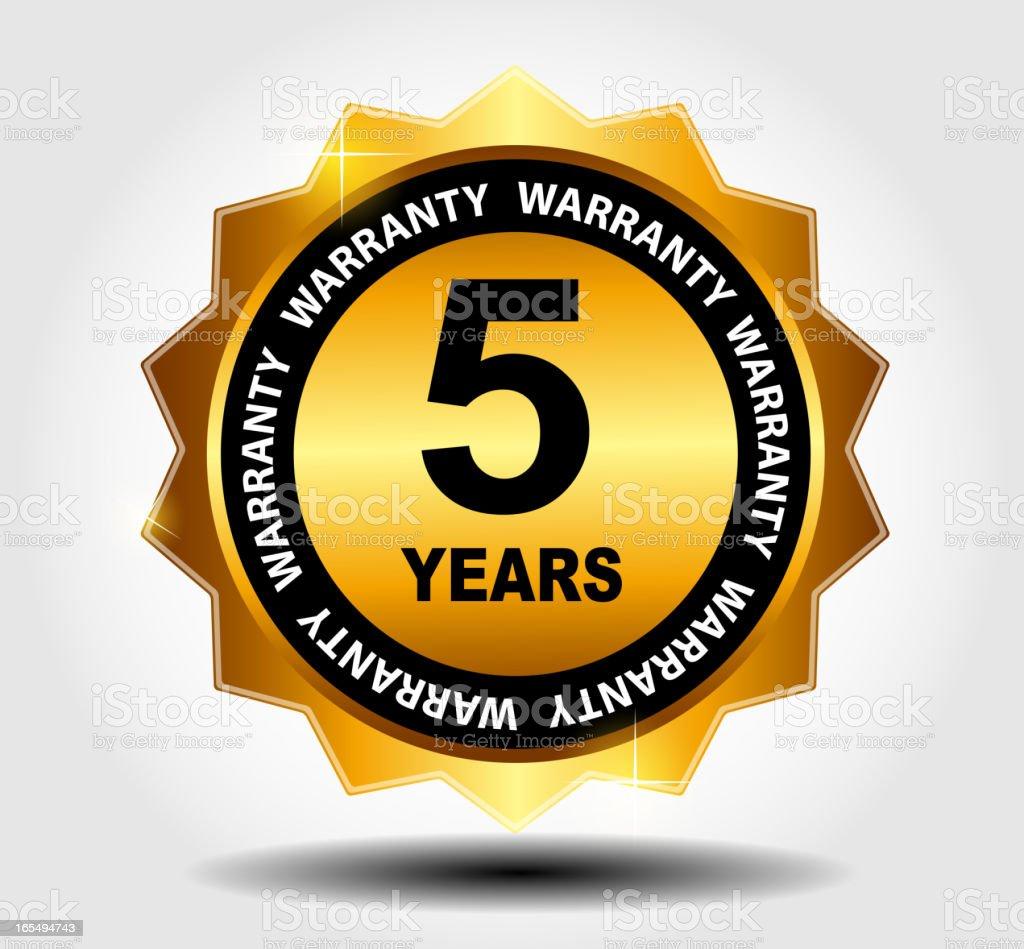 Gold vector guarantee sign, warranty label royalty-free stock vector art