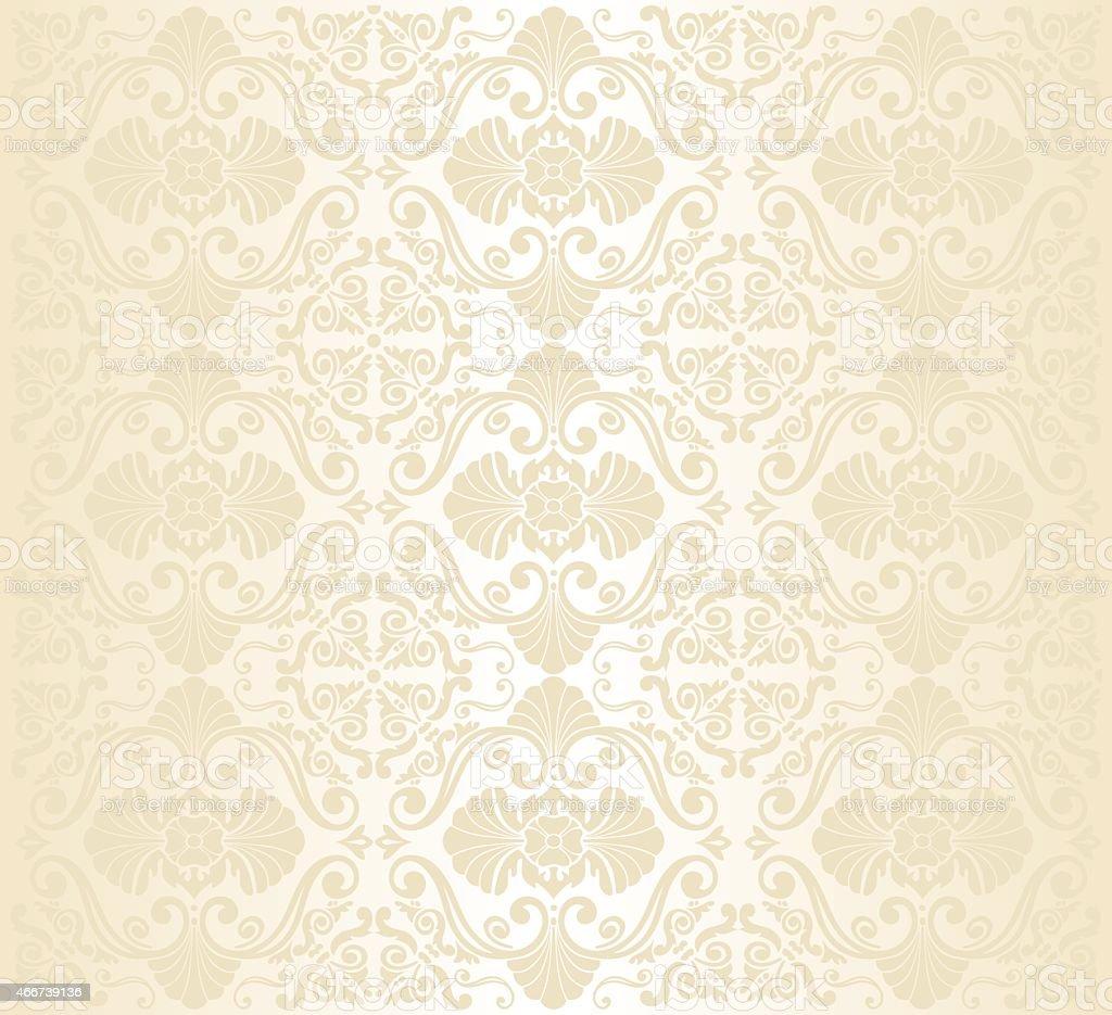 Gold vintage pattern wallpaper design vector art illustration