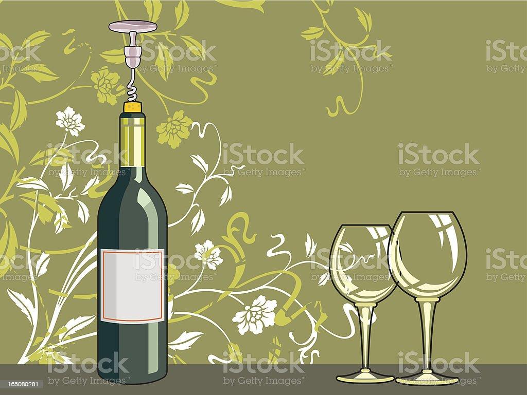 gold wine vector art illustration