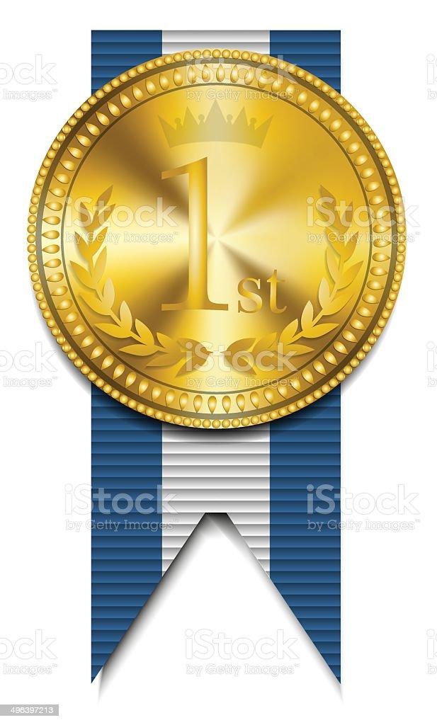Vainqueur de la médaille d'or stock vecteur libres de droits libre de droits