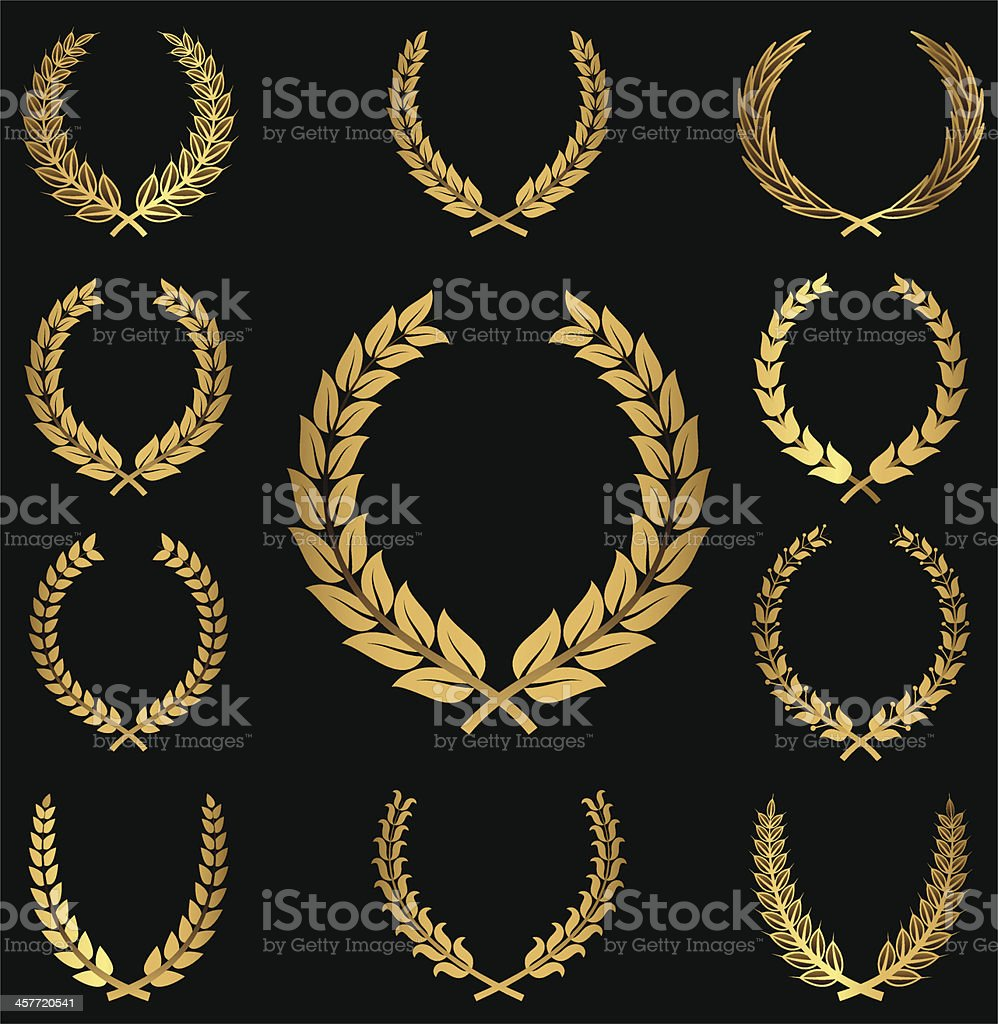 Gold Wreaths royalty-free stock vector art