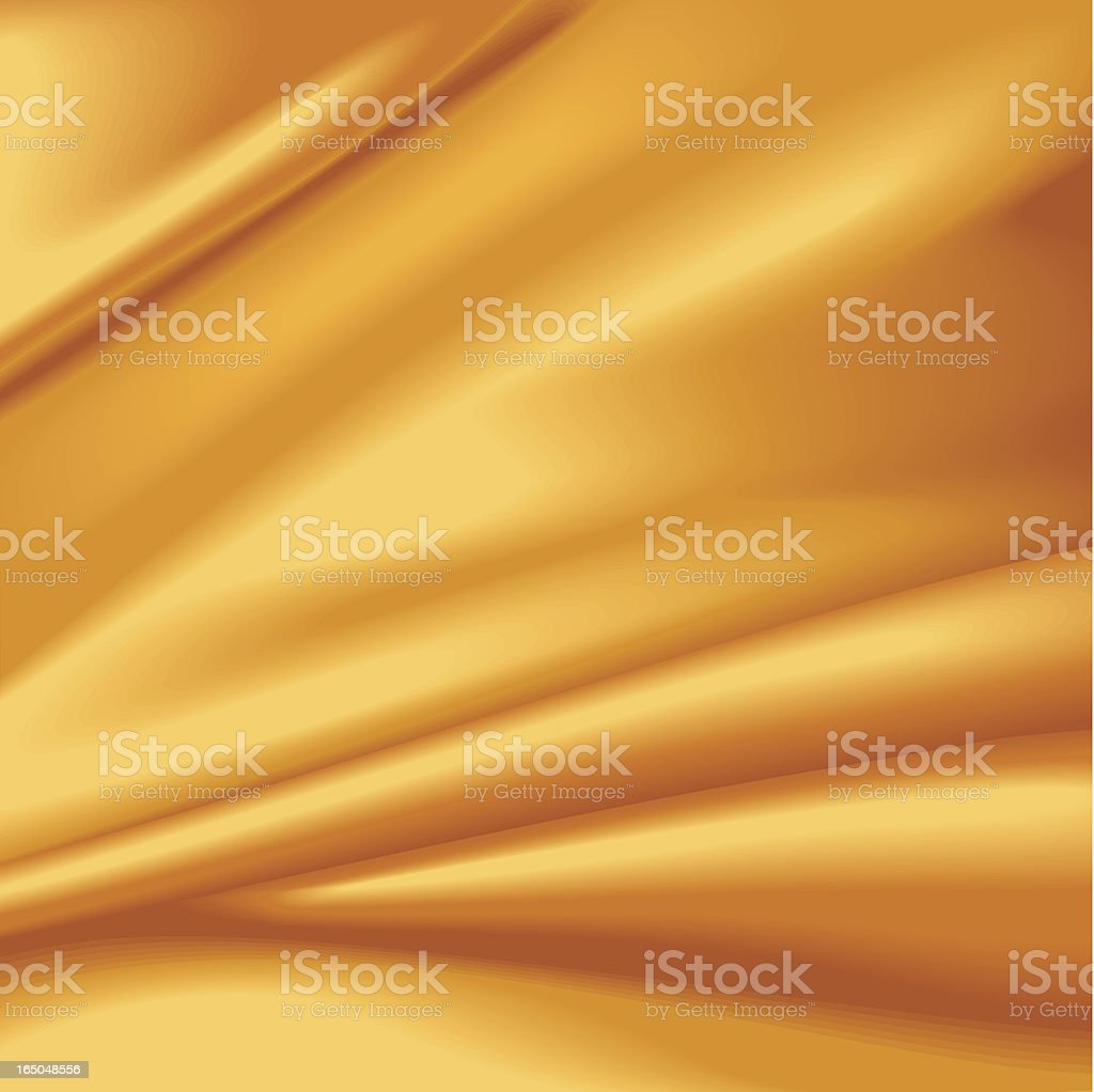 Gold wrinkled silky background royalty-free stock vector art