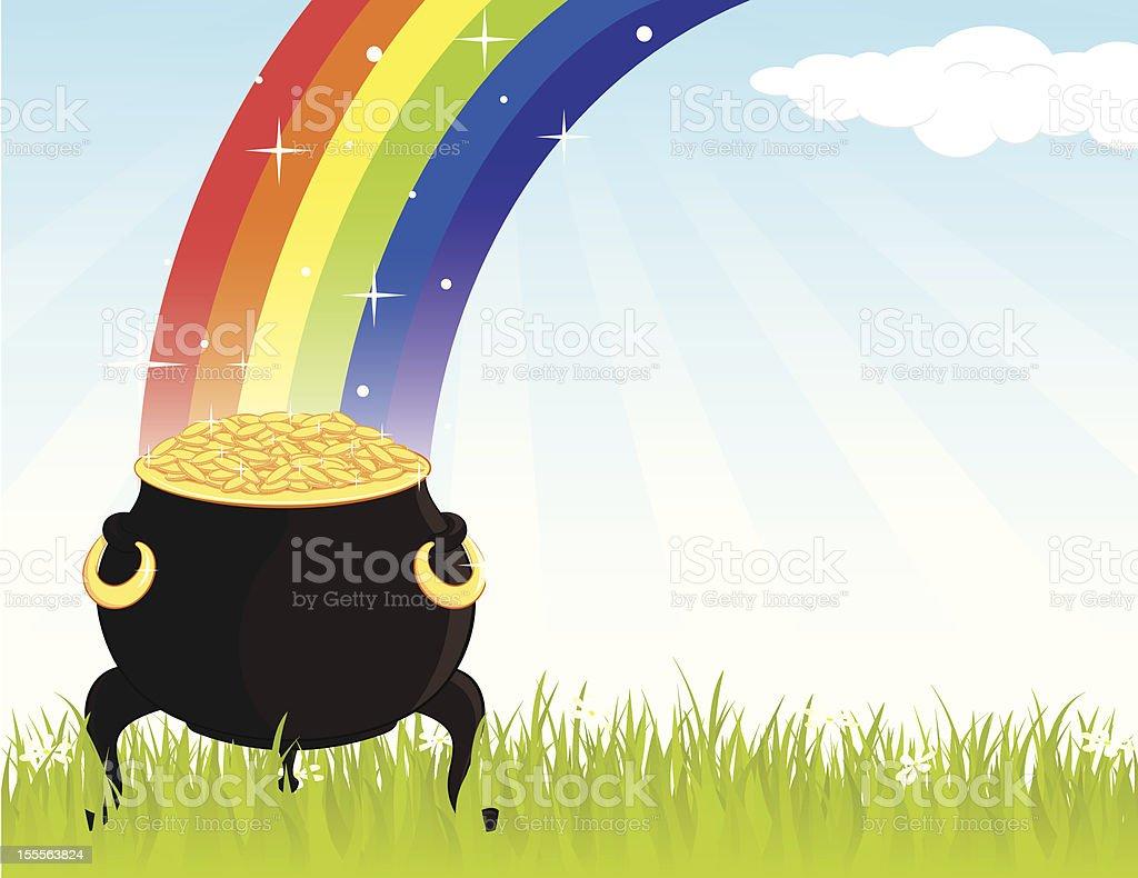 gold_pot royalty-free stock vector art