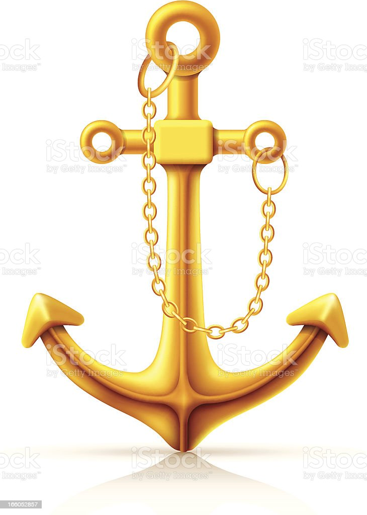 Golden Anchor royalty-free stock vector art