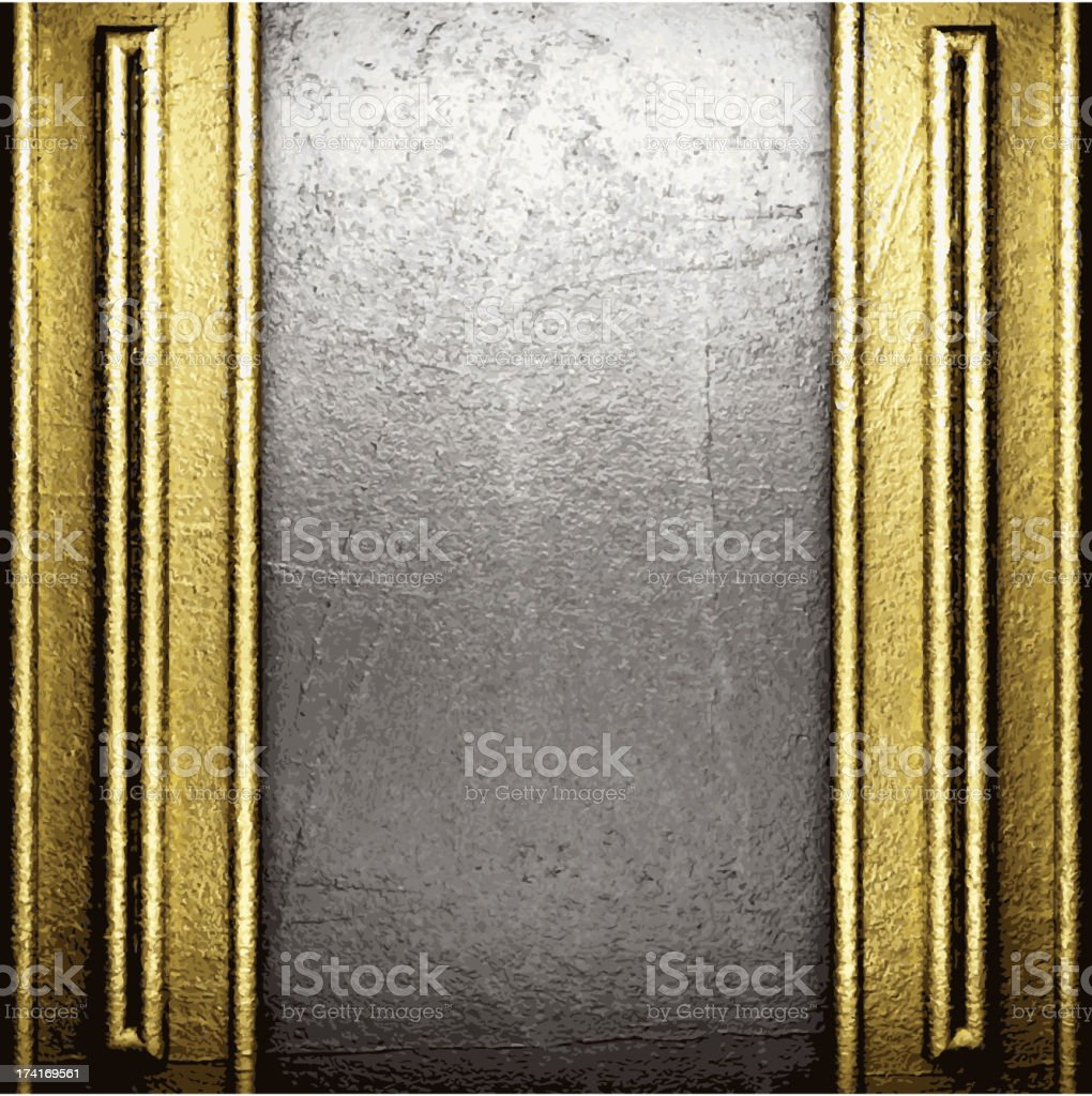 golden and silver background royalty-free stock vector art