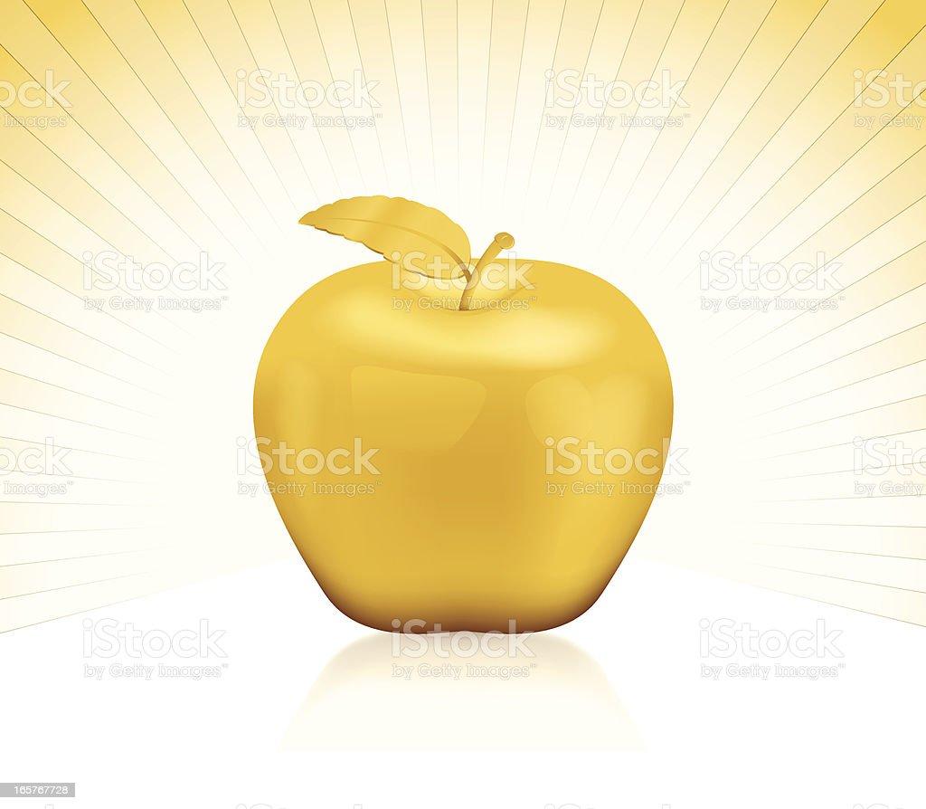 Golden Apple royalty-free stock vector art