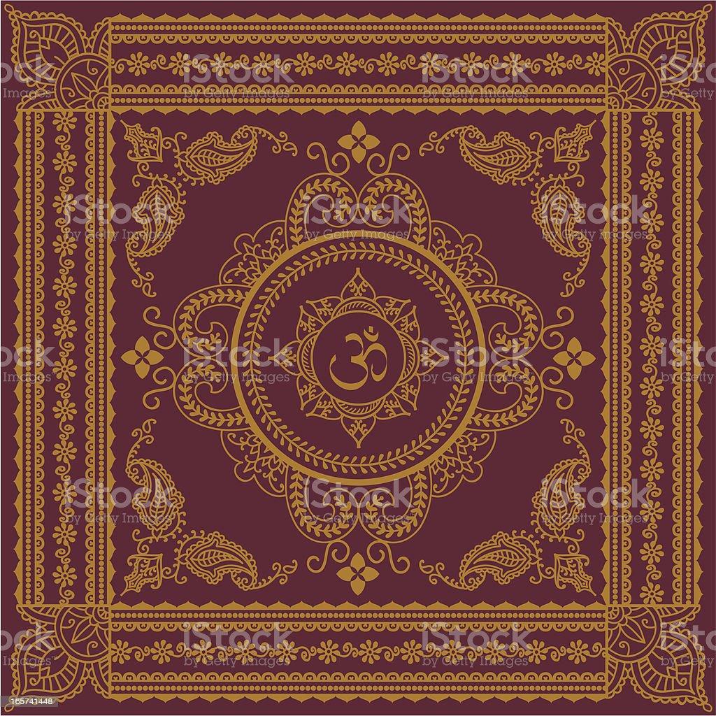 Golden Aum royalty-free stock vector art