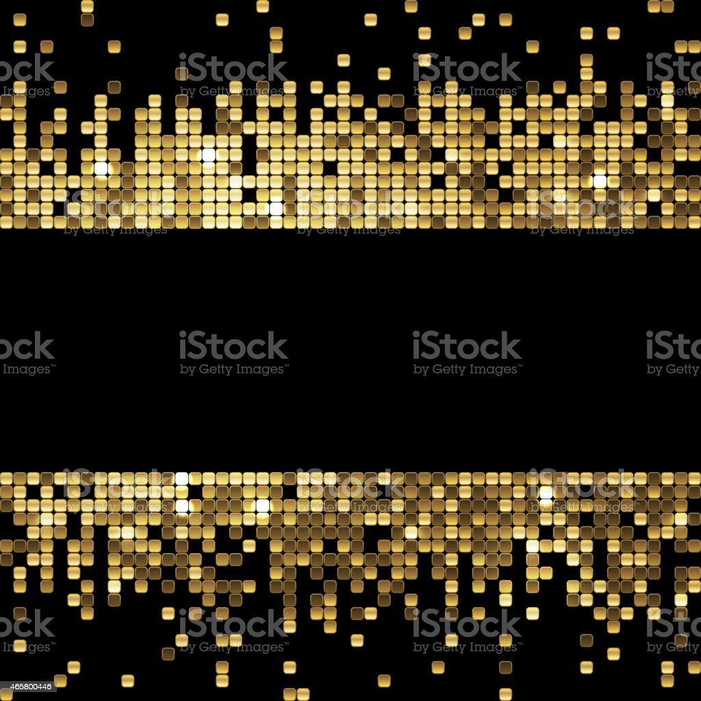 golden background of sparkling sequins vector art illustration