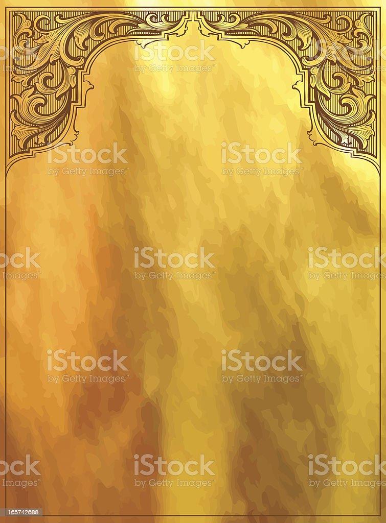 Golden Background Page vector art illustration