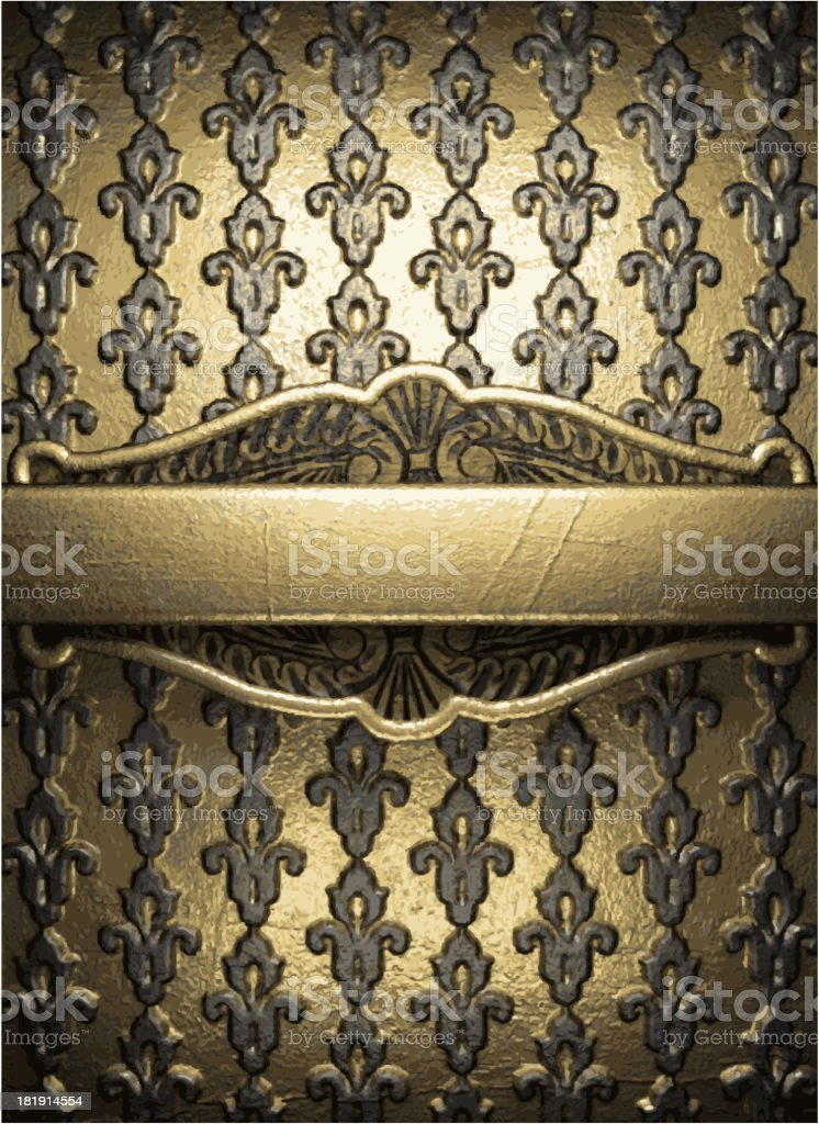 golden background royalty-free stock vector art