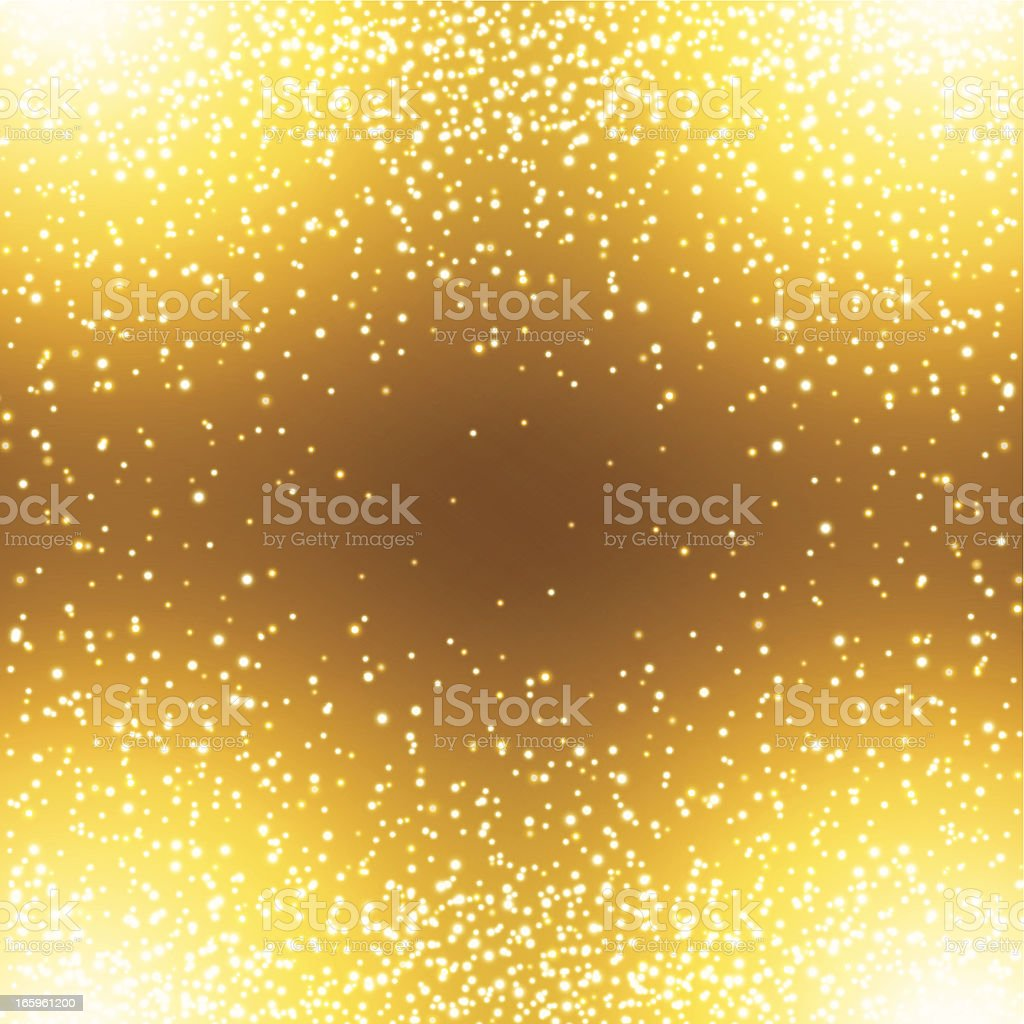 Golden background with sparkles coming from the edges royalty-free stock vector art
