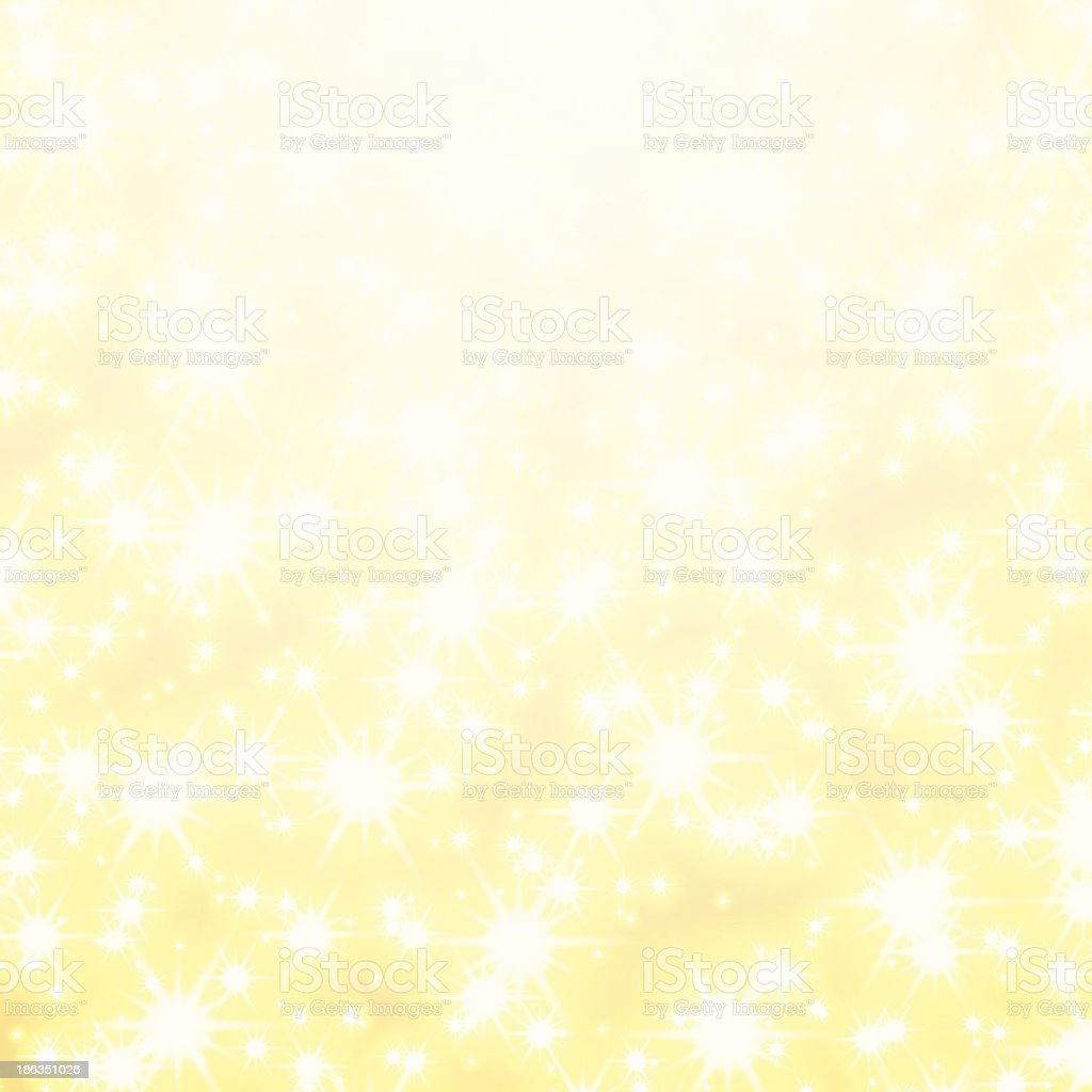 Golden Background with stars vector art illustration