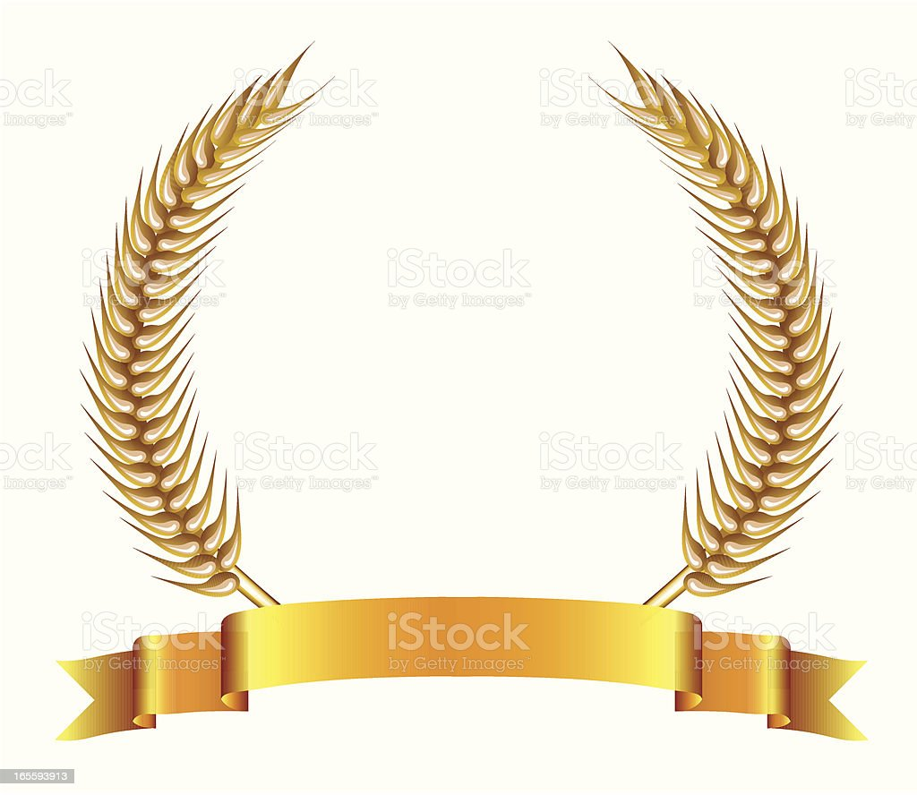 Golden Banner Decoration - VECTOR royalty-free stock vector art