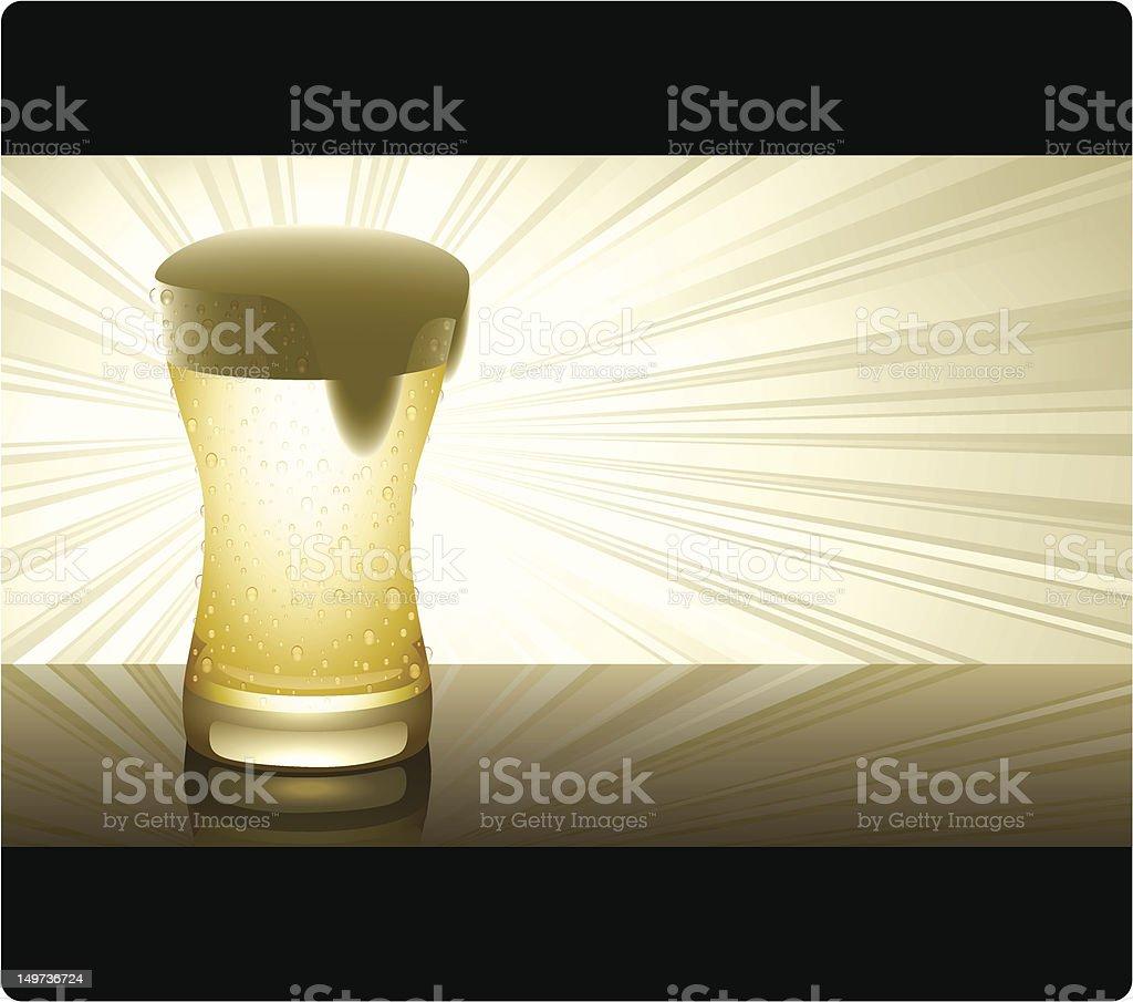 Golden Beer (horizontal) royalty-free stock vector art