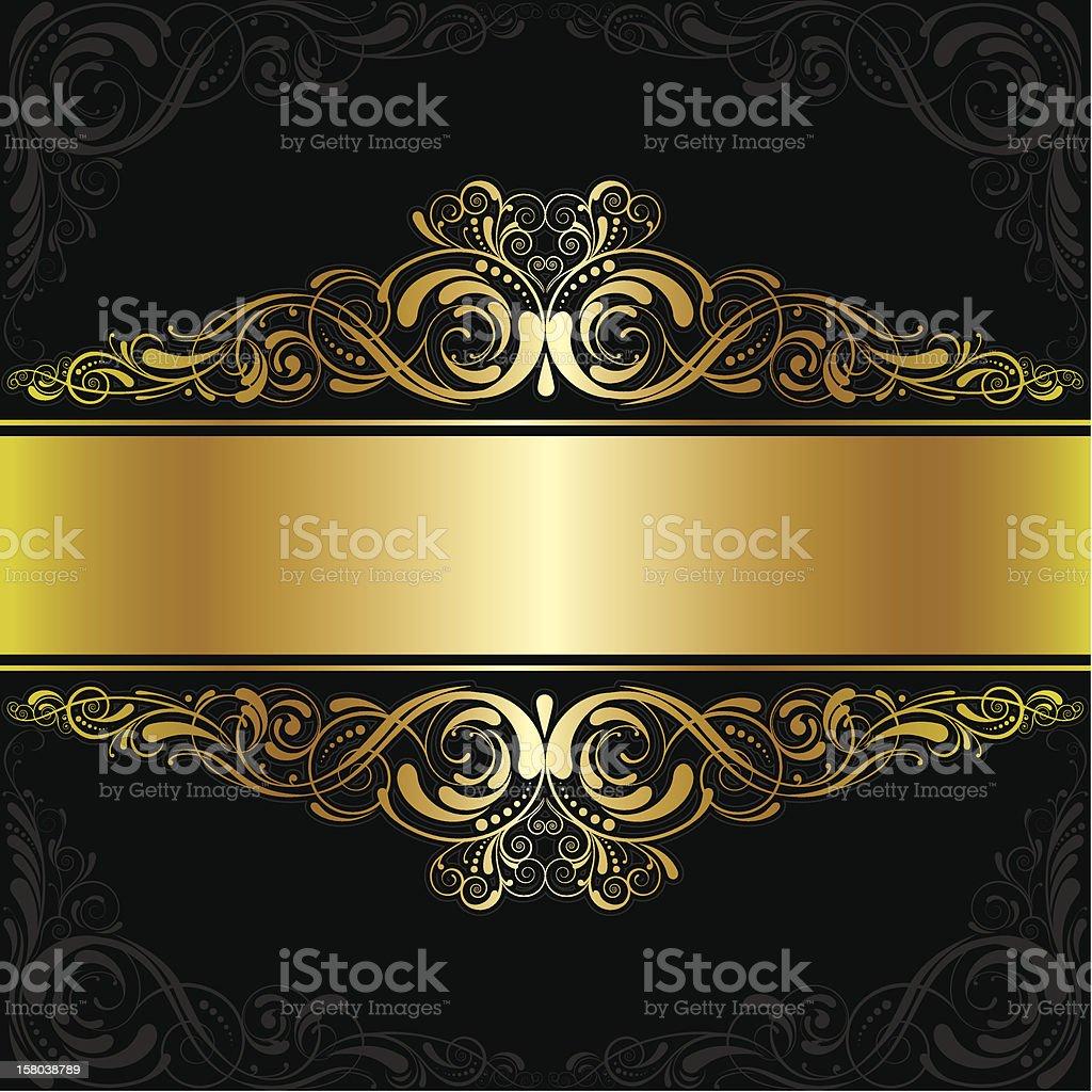 Golden black label design royalty-free stock vector art