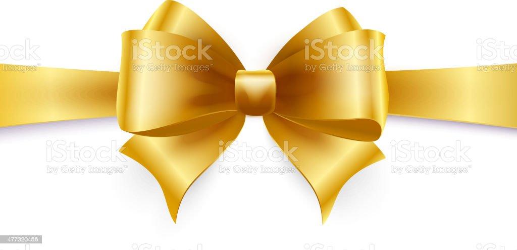 Golden bow. Vector illustration vector art illustration