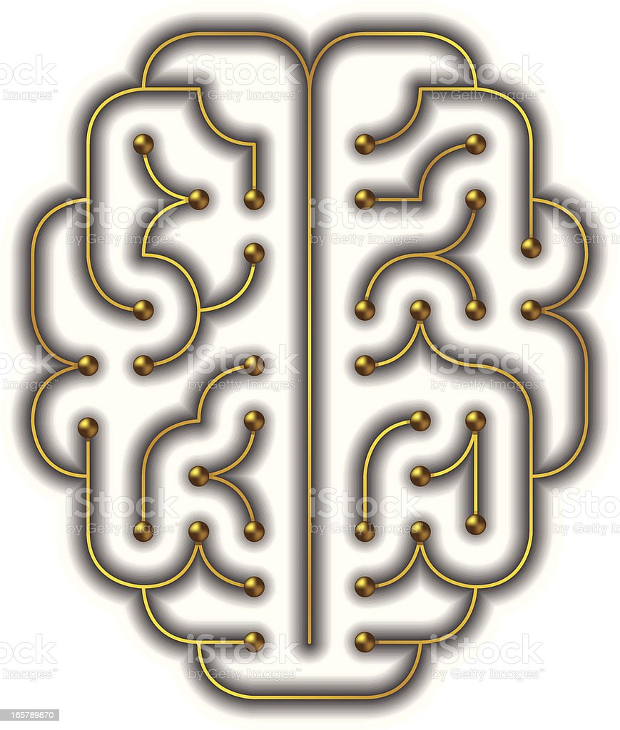 Golden Brain royalty-free stock vector art