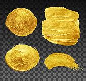 Golden brush strokes collection