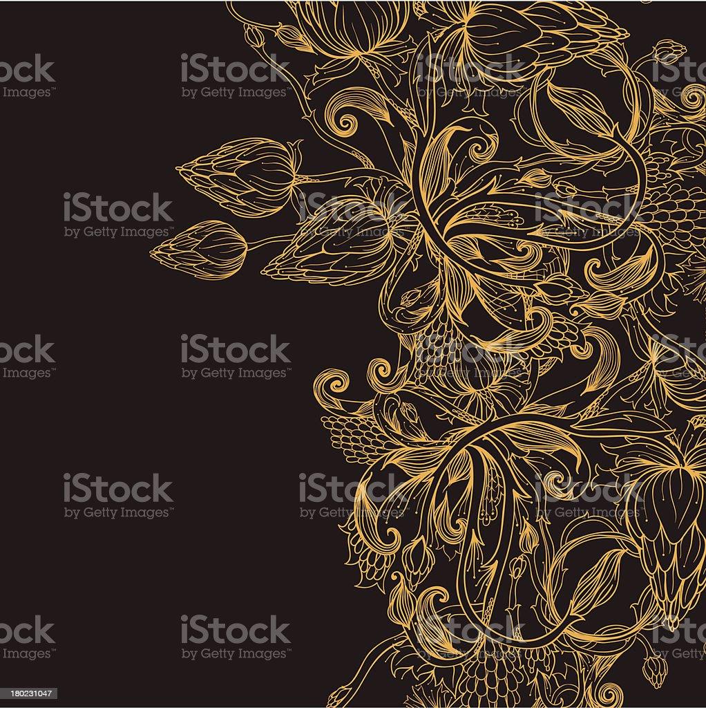 Golden bud vector art illustration