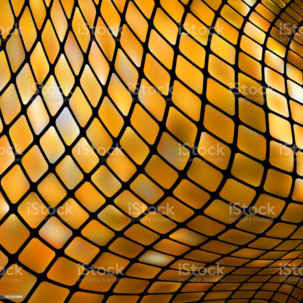 Golden business mosaic. EPS 8 royalty-free stock vector art