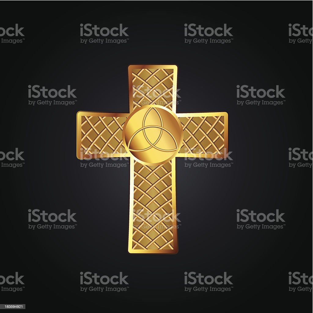 Golden celtic cross royalty-free stock vector art