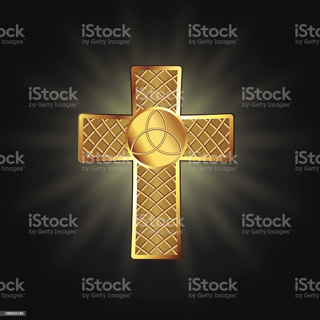 Golden celtic cross royalty-free stock vector art