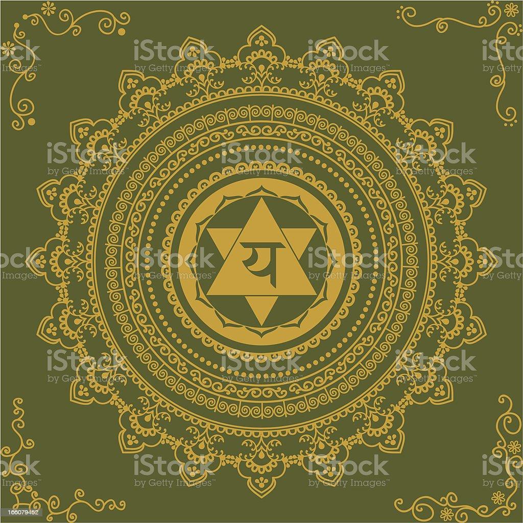 Golden Chakra Four royalty-free stock vector art