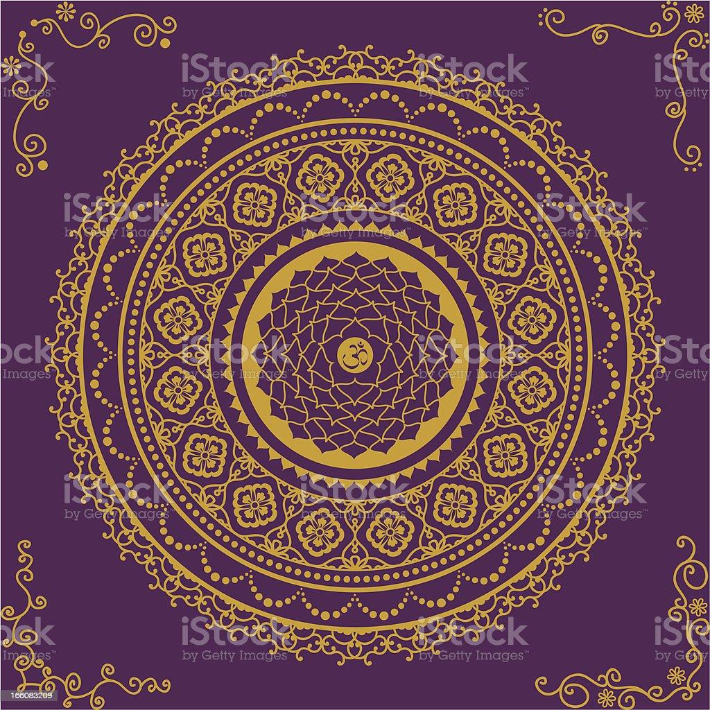 Golden Chakra Seven vector art illustration