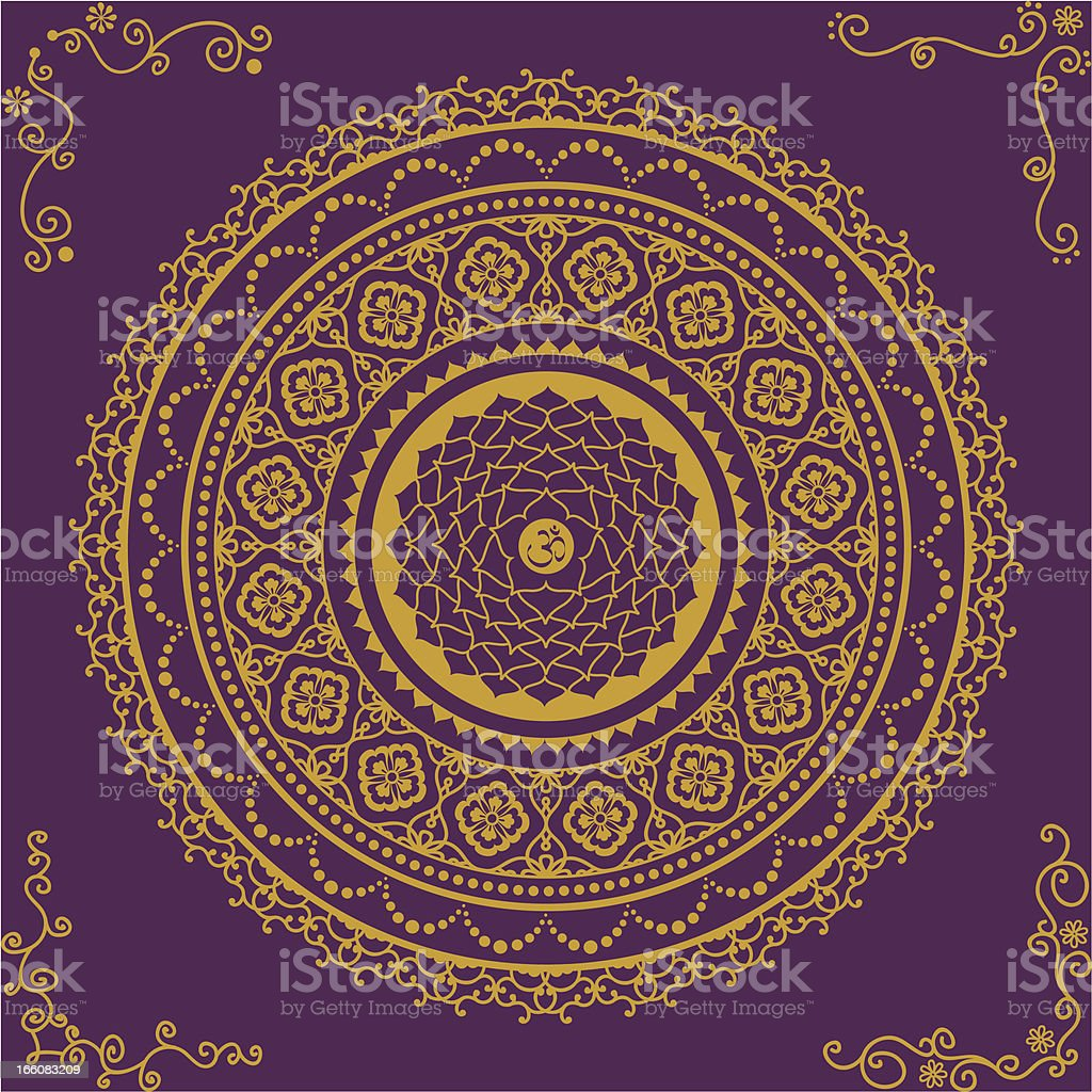 Golden Chakra Seven vector art illustration