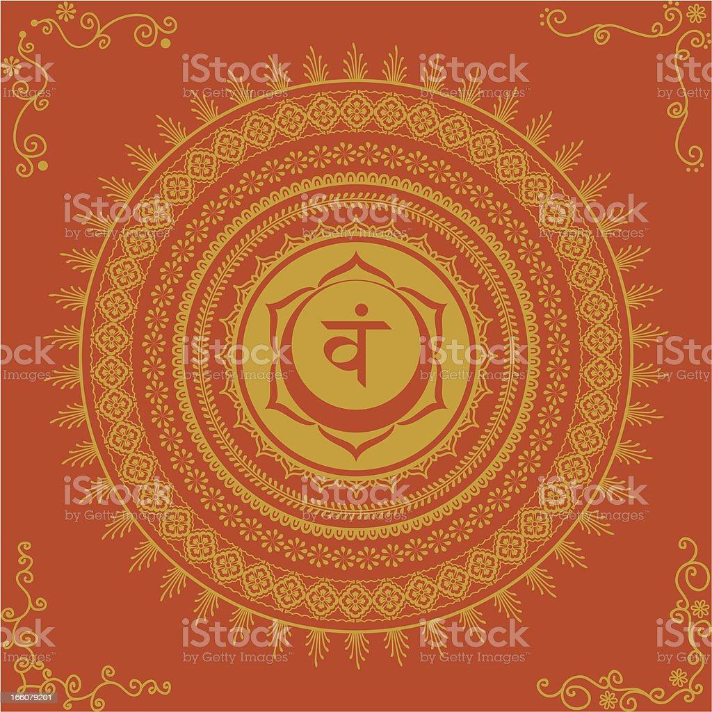 Golden Chakra Two royalty-free stock vector art