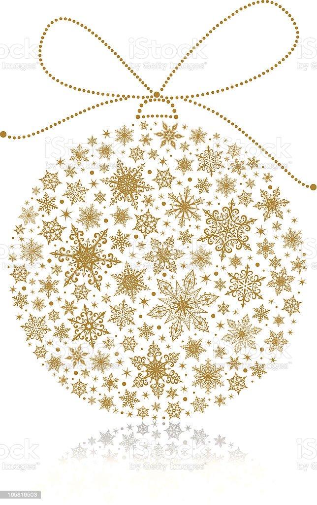 Golden Christmas ball royalty-free stock vector art