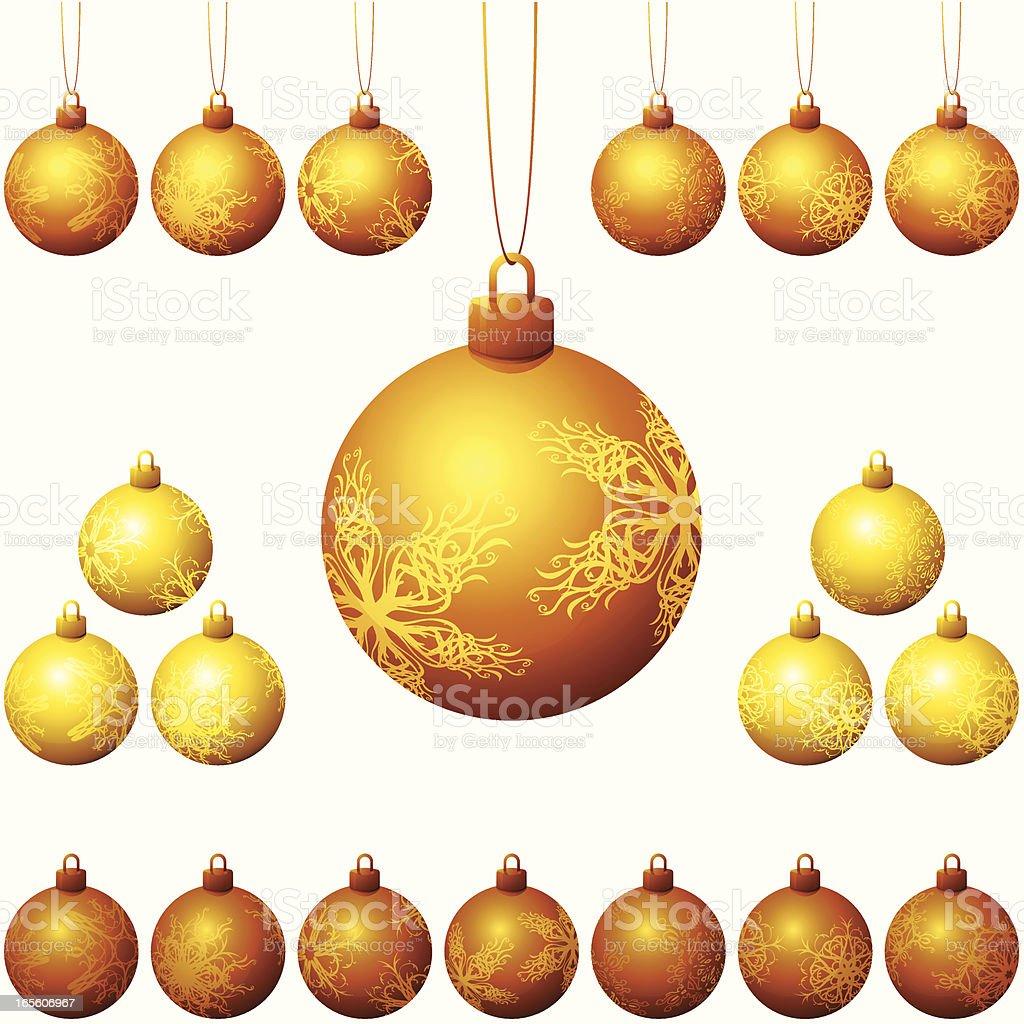 Golden Christmas Balls royalty-free stock vector art