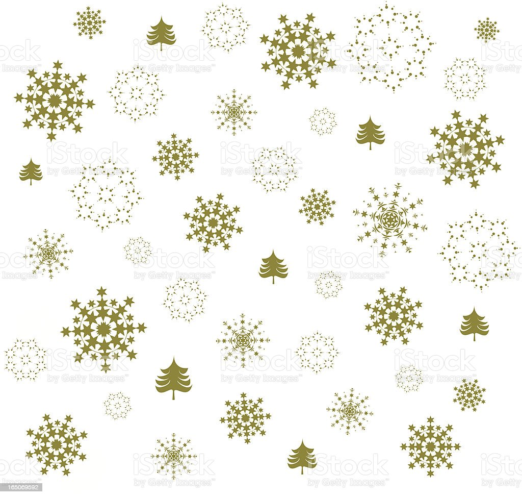Golden Christmas wrapping paper royalty-free stock vector art