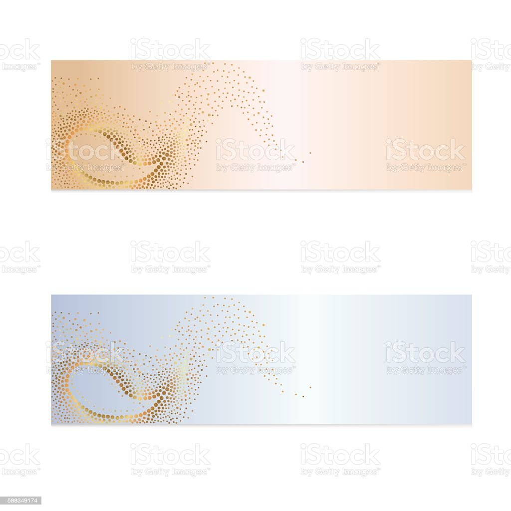 Golden circles on a beige and blue background royalty-free stock vector art