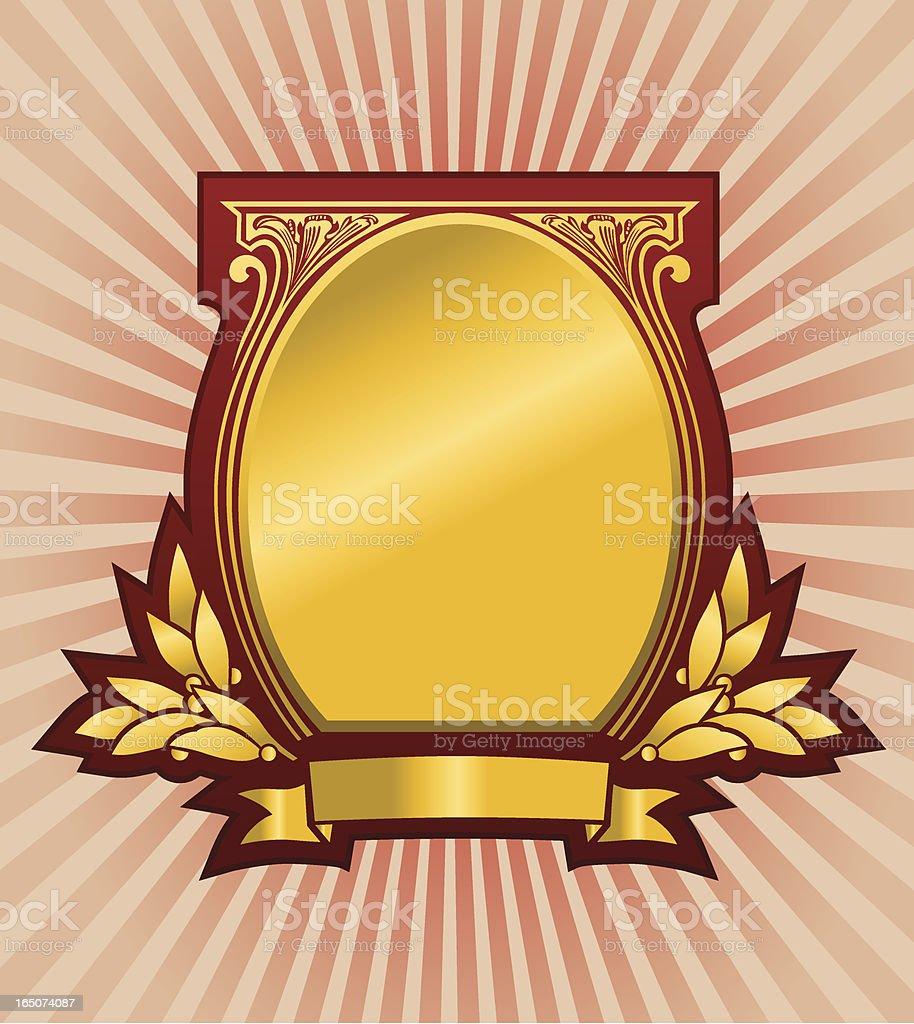 Golden Coat of Arm Vector royalty-free stock vector art