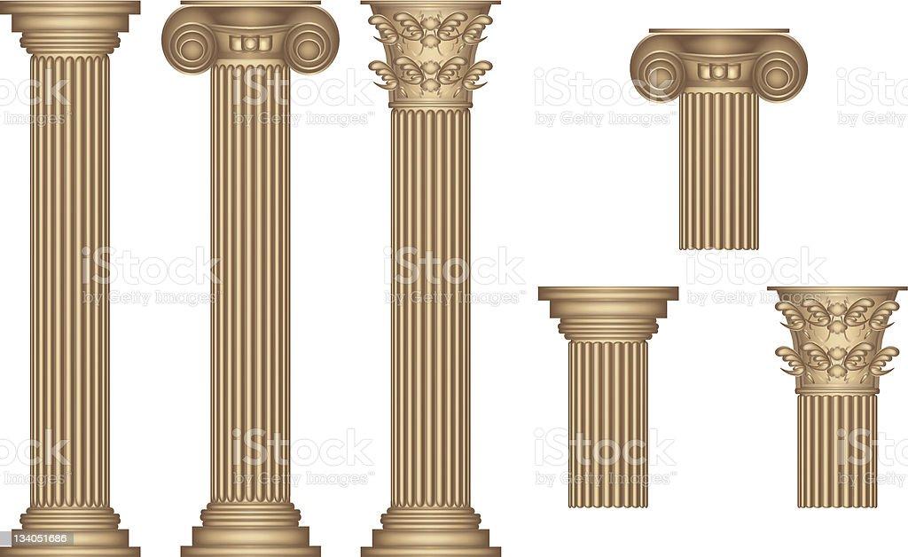 Golden Columns royalty-free stock vector art