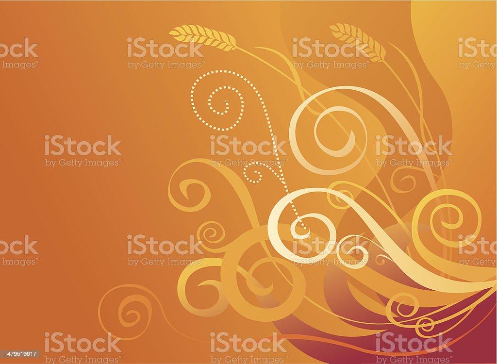 Golden crop royalty-free stock vector art