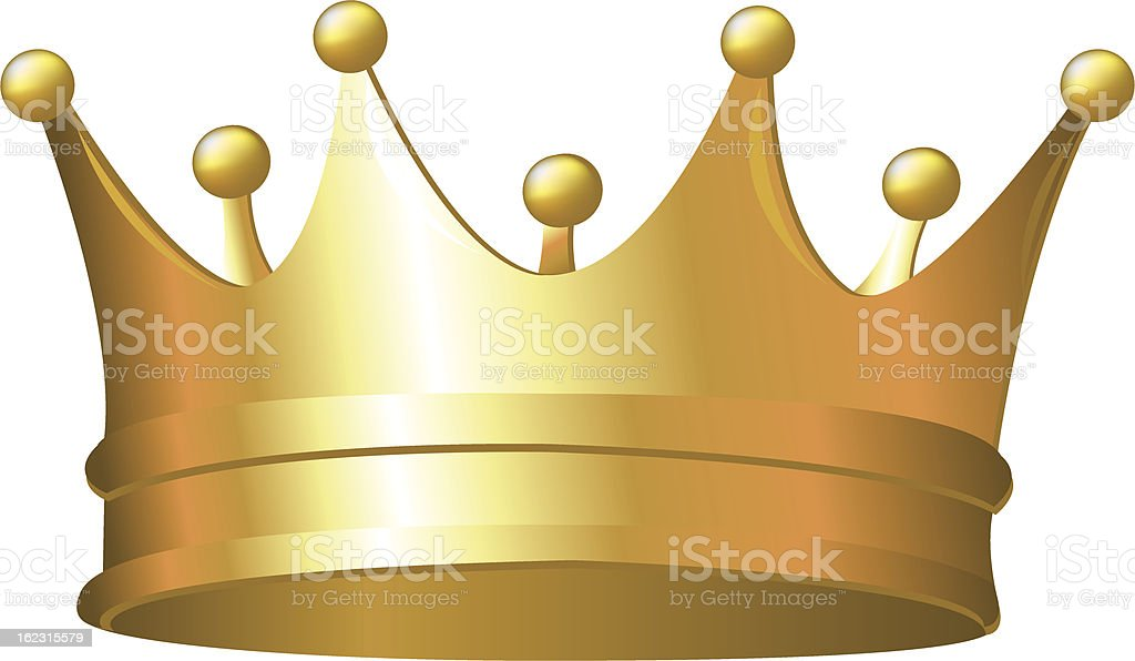 Golden Crown royalty-free stock vector art